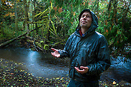 Fisheries scientist on tribal lands of the Skokomish Tribe, western Washington state.
