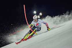 "29.01.2019, Planai, Schladming, AUT, FIS Weltcup Ski Alpin, Slalom, Herren, 1. Lauf, im Bild Istok Rodes (CRO) // Istok Rodes of Croatia in action during his 1st run of men's Slalom ""the Nightrace"" of FIS ski alpine world cup at the Planai in Schladming, Austria on 2019/01/29. EXPA Pictures © 2019, PhotoCredit: EXPA/ Dominik Angerer"