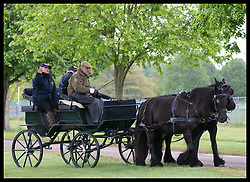 May 9, 2019 - Windsor, United Kingdom - Image licensed to i-Images Picture Agency. 09/05/2019. Windsor , United Kingdom. The Duke of Edinburgh drives a carriage  on the second day of Royal Windsor Horse Show, United Kingdom. (Credit Image: © Stephen Lock/i-Images via ZUMA Press)