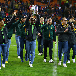 BlitzBokke South Africa national rugby sevens team at 1/2 time during the 2018 Castle Lager Incoming Series 3rd Test match between South Africa and England at Newlands Rugby Stadium,Cape Town,South Africa. 23,06,2018 Photo by (Steve Haag JMP)