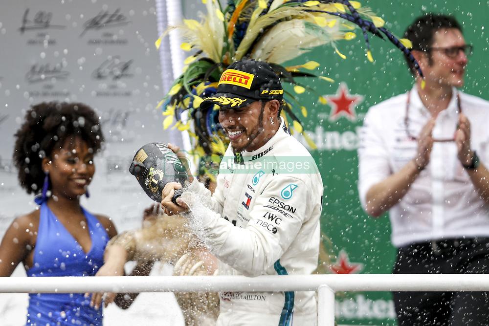 November 11, 2018 - Sao Paulo, Brazil - Motorsports: FIA Formula One World Championship 2018, Grand Prix of Brazil World Championship;2018;Grand Prix;Brazil ,  #44 Lewis Hamilton (GBR, Mercedes AMG Petronas F1 Team) (Credit Image: © Hoch Zwei via ZUMA Wire)