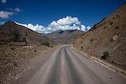 A Mountain road in Cusco Peru