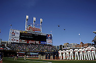 CLEVELAND, OH USA - APRIL 5: Cleveland Indians  before the game between the Cleveland Indians and Toronto Blue Jays at Progressive Field in Cleveland, OH, USA on Thursday, April 5, 2012.