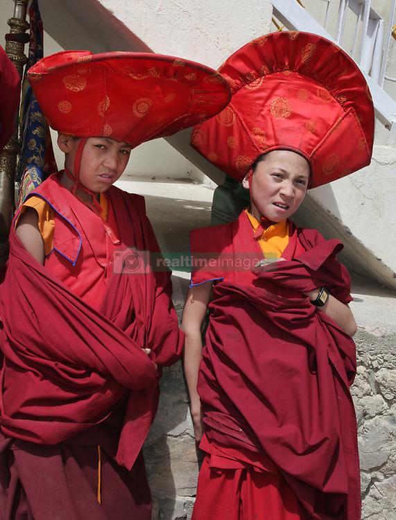 June 23, 2014 - Lamayuru, Ladakh, India - Novice Buddhist monks dressed in ceremonial attire during the Mask Dance Festival at the Lamayuru Monastery (Lamayuru Gompa) in Lamayuru, Ladakh, Jammu and Kashmir, India, on June 23, 2014. (Credit Image: © Creative Touch Imaging Ltd/NurPhoto via ZUMA Press)
