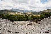 The Theater of Epidaurus near Nafplion, Greece.