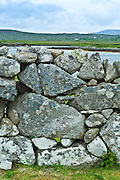 Dry stone wall near Rosmuck, Connemara, County Galway, Ireland