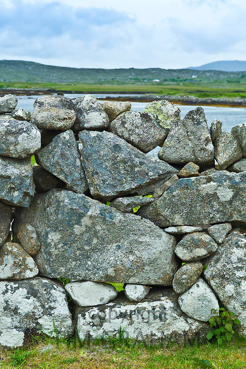 Dry stone wall near Rosmuck, Connemara, County Galway, Ireland