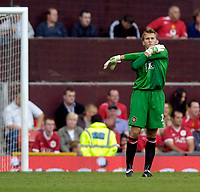 Photo: Jed Wee.<br />Manchester United v Seville. Pre Season Friendly. 12/08/2006.<br /><br />Manchester United's Tomasz Kuszczak makes his Old Trafford debut.