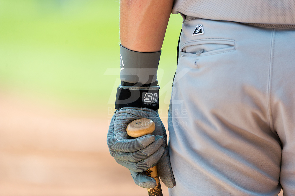 A close up view of the batting glove of Gordon Beckham #15 of the Chicago White Sox during a game against the Minnesota Twins on September 16, 2012 at Target Field in Minneapolis, Minnesota.  The White Sox defeated the Twins 9 to 2.  Photo: Ben Krause