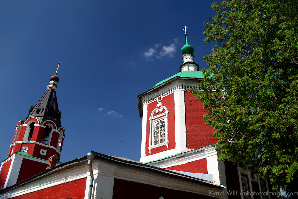 Europe, Russia, Suzdal. Uspenskaya Church and bellfry.