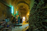 Egypt . Cairo : Oda Bashi sabil Kutab transformed in a wood workshop, in al Gamaliyyah  area In Islamic Cairo . street life ,