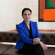 London UK, Lloyds Bank premises, January 27, 2015.<br /> <br /> Kamel Hothi got an education in spite of her father's reluctance, and her parents arranged her marriage. Today, as Head of Responsible Business Projects at Lloyds Banking Group, she is a British Indian woman who has made impressive strides in the UK while managing to preserve some of her family traditions.