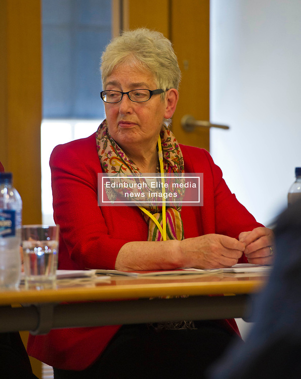 Pictured: <br /> <br /> Labour Economy spokeswoman Jackie Baillie MSP today  unveiled an independente study by economists Jim and Margaret Cuthbert into how the Scottish Futures Trust operates. <br /> <br /> Ger Harley | EEm 18 October 2017