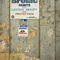 Brolac Paints sign,<br />Mdina,<br />Malta, Europe.<br />Summer 2016.