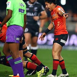 DURBAN, SOUTH AFRICA - JULY 15: Kaito Shigeno of the Sunwolves during the Super Rugby match between the Cell C Sharks and Sunwolves at Growthpoint Kings Park on July 15, 2016 in Durban, South Africa. (Photo by Steve Haag/Gallo Images)