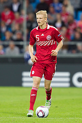 AALBORG, DENMARK - Saturday, June 11, 2011: Denmark's Nicolai Boilesen (AFC Ajax) in action against Switzerland during the UEFA Under-21 Championship Denmark 2011 Group A match at the Aalborg Stadion. (Photo by Vegard Grott/Propaganda)