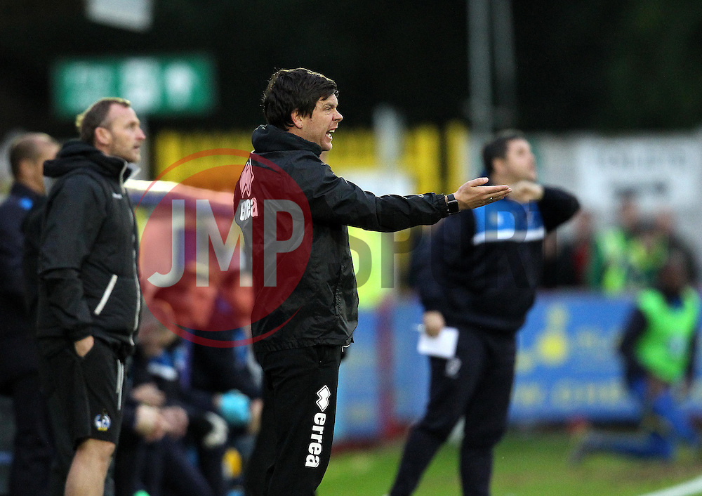 Bristol Rovers Manager Darrell Clarke shouts to his players - Mandatory byline: Robbie Stephenson/JMP - 07966 386802 - 26/12/2015 - FOOTBALL - Kingsmeadow Stadium - Wimbledon, England - AFC Wimbledon v Bristol Rovers - Sky Bet League Two