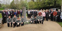 Former and present staff from Rice College and Scoil Padraig Westport attending the plaque unveiling at Rice College Westport marking 150 years since the foundation of the Christian Brothers in Westport.<br /> Pic Conor McKeown