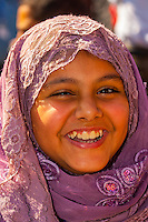 Egyptian girl outside the Egyptian Museum, Cairo, Egypt