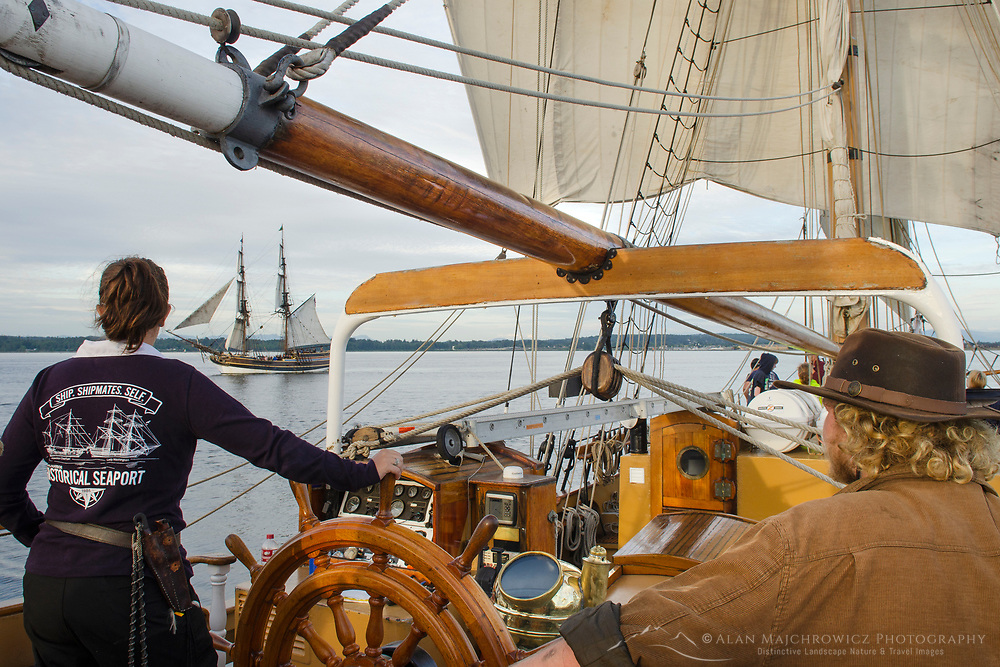 Hawaiian Chieftain, a Square Topsail Ketch. Owned and operated by the Grays Harbor Historical Seaport, Aberdeen, Washington