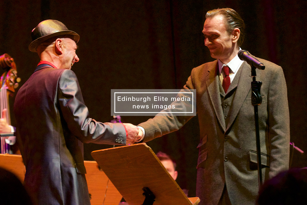 Edinburgh International Film Festival, world famous Edinburgh born jazz saxophonist Tommy Smith leads the Scottish National Jazz Orchestra in a musical tribute to ground-breaking Scottish playwright Tom McGrath. This special performance is complemented by readings of McGrath's poetry and extracts from his plays by another iconic Scottish talent, celebrated actor and performer Tam Dean Burn at the Queens Hall.<br /> Friday 23rd June 2017(c) Brian Anderson | Edinburgh Elite media