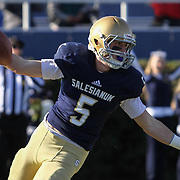 Salesianum split end Jeremy Ryan (5) celebrates after scoring a touchdown in the second quarter during a DIAA Division I championship game between Smyrna and Salesianum Saturday, Dec. 05, 2015 at Delaware Stadium in Newark.