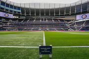 General stadium view, 'KEEP OFF THE GRASS' sign, inside Tottenham Hotspur Stadium before the Pre-Season Friendly match between Tottenham Hotspur and Inter Milan at Tottenham Hotspur Stadium, London, United Kingdom on 4 August 2019.