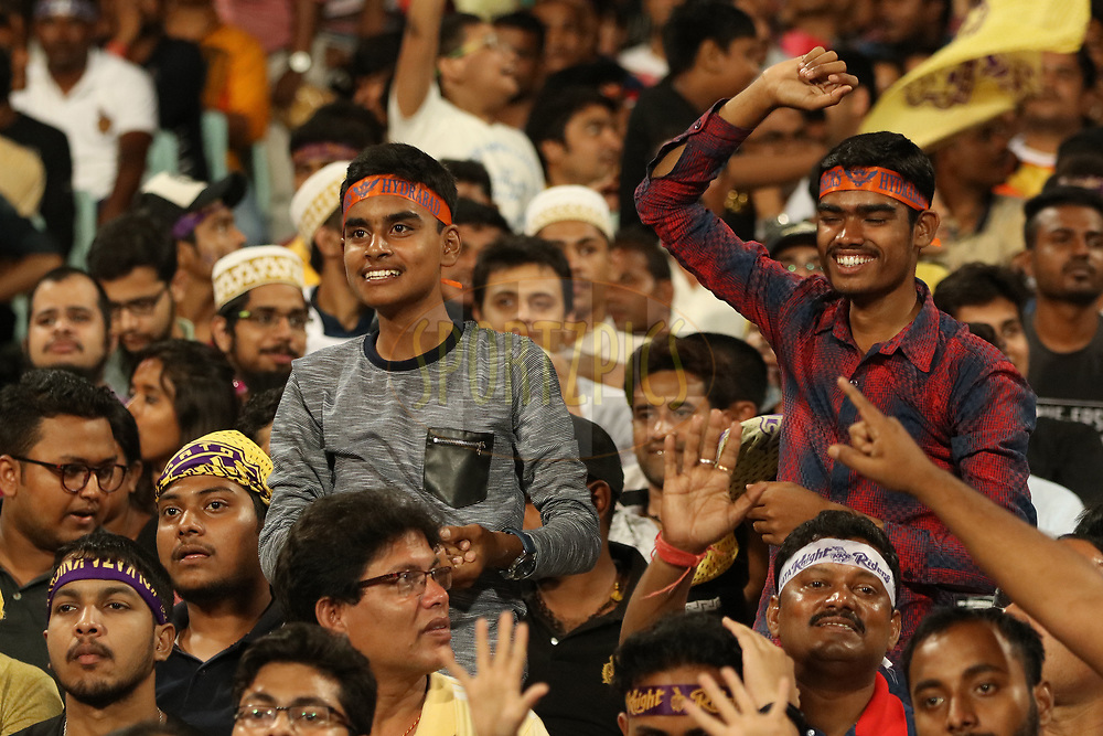 during match ten of the Vivo Indian Premier League 2018 (IPL 2018) between the Kolkata Knight Riders and the Sunrisers Hyderabad held at the Eden Gardens Cricket Stadium in Kolkata on the 14th April 2018.<br /> <br /> Photo by Saikat Das / IPL/ SPORTZPICS
