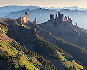 An area known as the 'Castles' lies south west of the mountain town of Crested Butte.