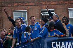 © licensed to London News Pictures. London, UK 20/05/2012. The Chelsea Football Team parading on an open top bus in west London today, after their victory in the UEFA Champions League. Photo credit: Tolga Akmen/LNP