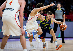 Sergio Rodriguez of Spain vs Aleksej Nikolic of Slovenia during basketball match between National Teams of Slovenia and Spain at Day 15 in Semifinal of the FIBA EuroBasket 2017 at Sinan Erdem Dome in Istanbul, Turkey on September 14, 2017. Photo by Vid Ponikvar / Sportida