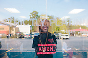 Rap producer Mike Will at Strictly Platinum Barber Shop in Marietta, Georgia October 4, 2012.