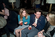 JEMMA TIBBLES; CHARLIE YOUNG, GQ Style party, The Bassoon Bar , The Corinthia Hotel, Whitehall Place London. 15 March 2011.  -DO NOT ARCHIVE-© Copyright Photograph by Dafydd Jones. 248 Clapham Rd. London SW9 0PZ. Tel 0207 820 0771. www.dafjones.com.