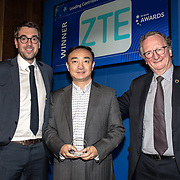 ZTE Corporation winner of Leading Contribution to Network Slicing of the 5G Awards ceremony at Drapers' Hall, on 12 June 2019, London, UK.