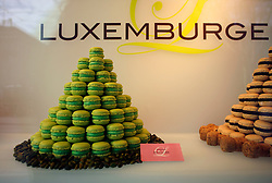 SWITZERLAND ZURICH 3MAR12 - Luxemburgerli on display in Zurich, Switzerland.  Essentially a small macaron, the ..confectionery made by the Confiserie Sprüngli in Zürich, Switzerland...jre/Photo by Jiri Rezac....© Jiri Rezac 2012