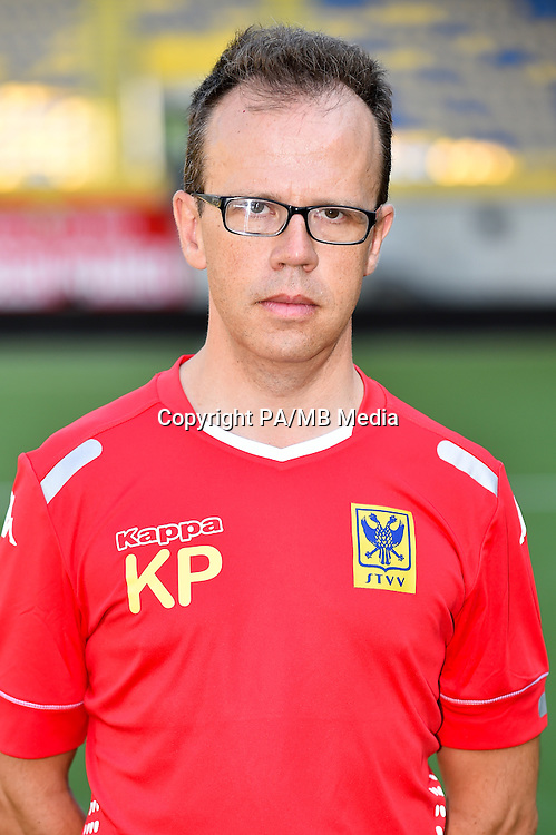 STVV's doctor Koen Pansaers poses for the photographer during the 2015-2016 season photo shoot of Belgian first league soccer team STVV, Friday 17 July 2015 in Sint-Truiden.