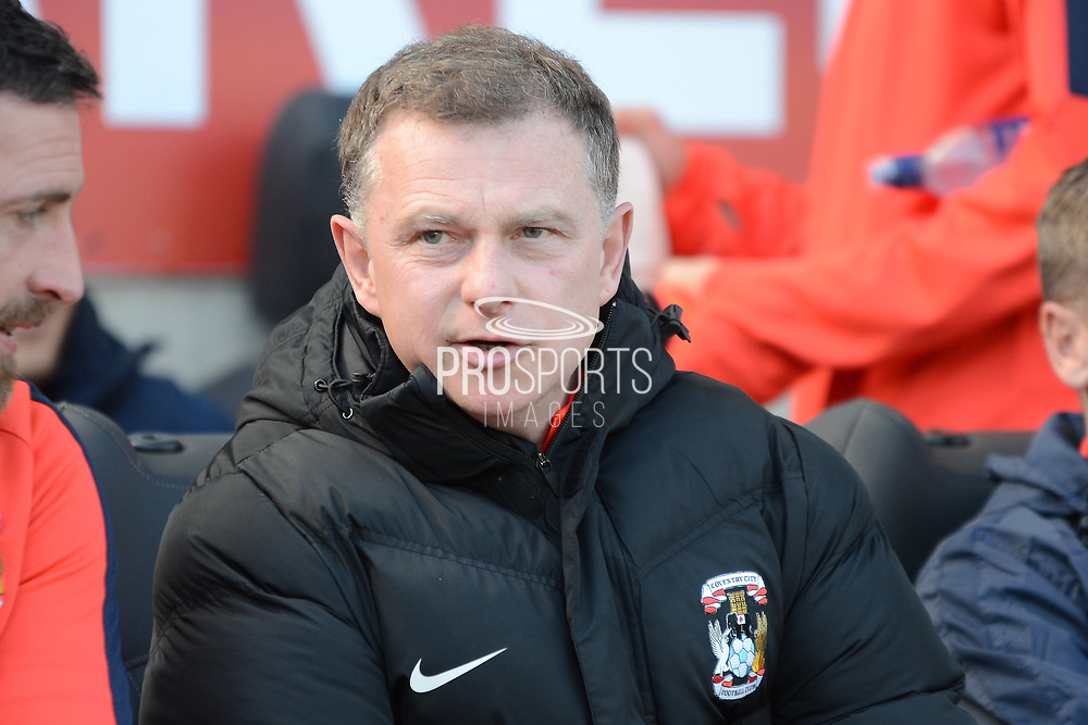 Coventry City manager Mark Robins during the EFL Sky Bet League 1 match between Coventry City and Bristol Rovers at the Ricoh Arena, Coventry, England on 25 March 2017. Photo by Alan Franklin.