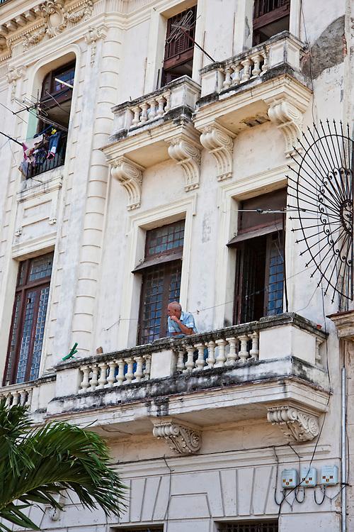 Old building in Havana Vieja, Cuba.