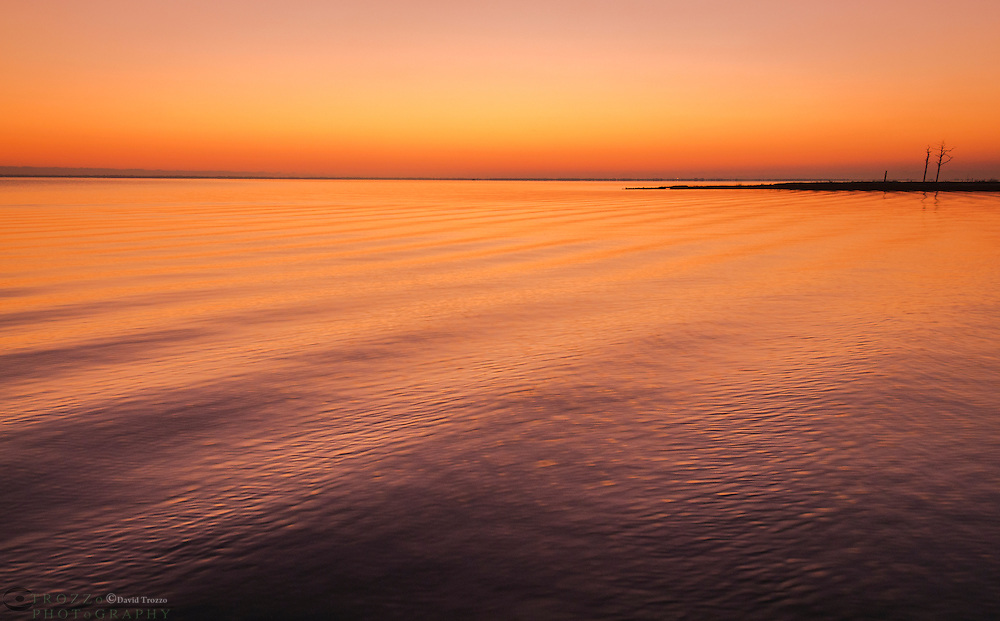 Sunrise over Rehobeth Bay, Delaware, USA.