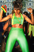 Girls dancing in the street Notting Hill Carnival London 1997