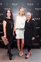 Left to right, ROSA TOUS, TESS DALY and Rosa Oriol de Tous at a party to announce Kylie Minogue as The Face of Tous held at their store 260 Regent Street, London on 8th June 2010.
