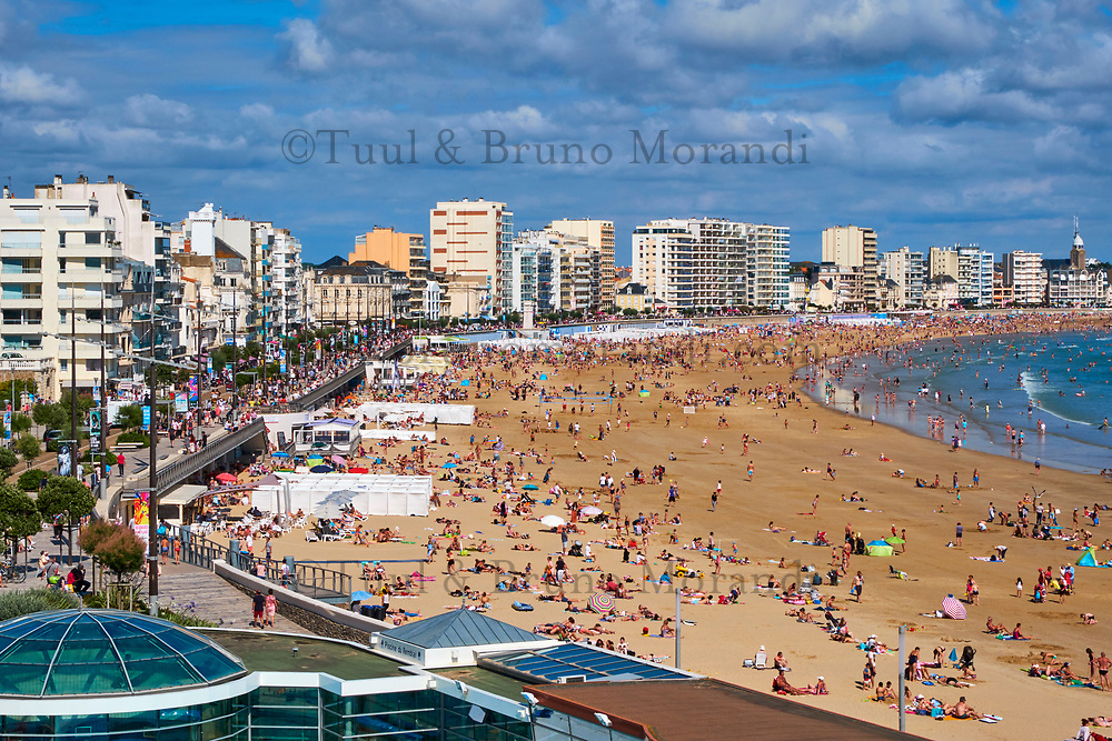 France, Vendée (85), Les Sables-d'Olonne, la plage // France, Vendée, Les Sables-d'Olonne, the beach