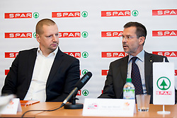 Matej Erjavc, president of KZS and Igor Mervic of Spar Slovenia at press conference before Finals of Spar Cup 2018, on January 31, 2018 in Ljubljana, Slovenia. Photo by Urban Urbanc / Sportida