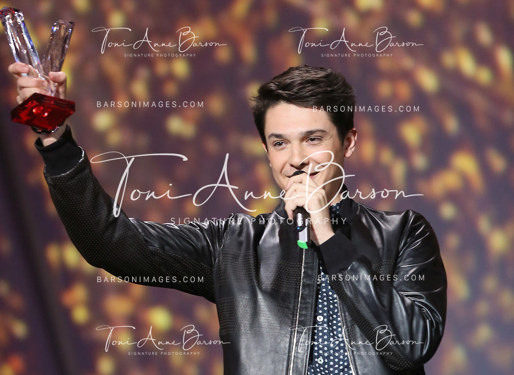"""PARIS, FRANCE - FEBRUARY 10:  DJ Kungs AKA Valentin Brunel receives awards during the """"32nd Victoires de la Musique 2017"""" at Le Zenith on February 10, 2017 in Paris, France.  (Photo by Tony Barson/FilmMagic)"""