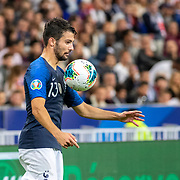 PARIS, FRANCE - September 10:   Leo Dubois #13 of France in action during the France V Andorra, UEFA European Championship 2020 Qualifying match at Stade de France on September 10th 2019 in Paris, France (Photo by Tim Clayton/Corbis via Getty Images)