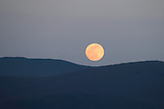 Moonrise over the Green Mountains from Sudbury, Vermont.