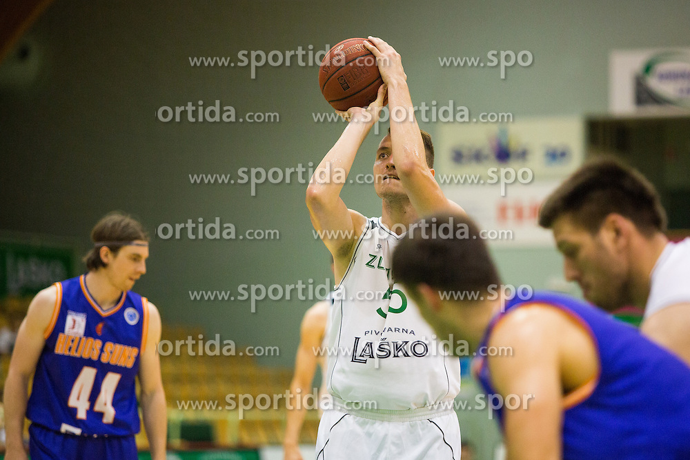 Jakob Cebasek of KK Zlatorog during basketball match between KK Zlatorog and KK Helios Suns in 1st match of Nova KBM Slovenian Champions League Final 2015/16 on May 29, 2016  in Dvorana Zlatorog, Lasko, Slovenia.  Photo by Ziga Zupan / Sportida