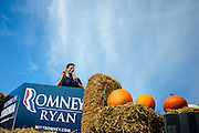 Republican Vice Presidential Candidate Rep. Paul Ryan speaks to supporters at the Rockingham County Fairgrounds near Harrisonburg, Virginia on Friday.