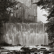 Dam on East Branch Housatonic River, Byron Weston Mill, Dalton, MA
