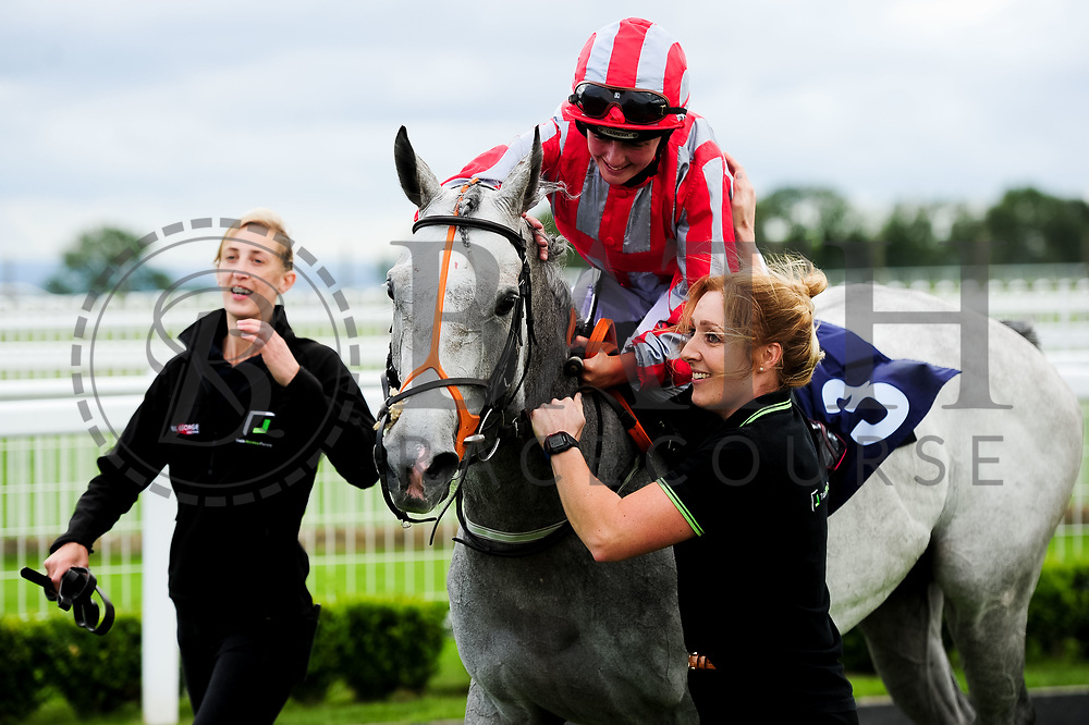 Princess Way ridden by Rhiain Ingram and trained by Paul George in the Sky Sports Racing Sky 415 Fillies' Handicap (Class 5) race. - Ryan Hiscott/JMP - 07/08/2019 - PR - Bath Racecourse - Bath, England - Race Meeting at Bath Racecourse